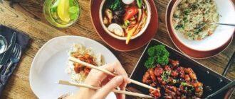 Перекус китайскими палочками