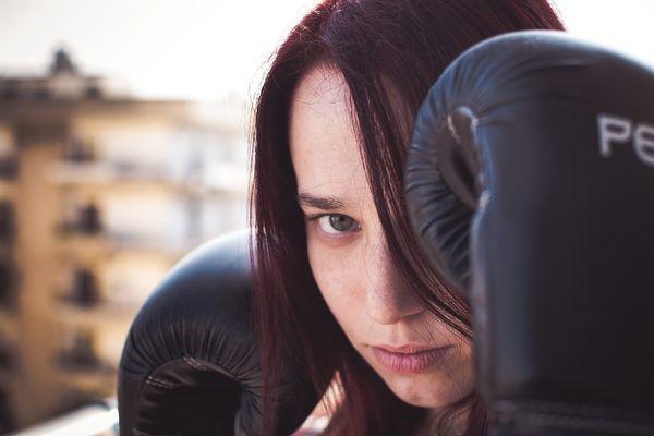 Девушка боксер