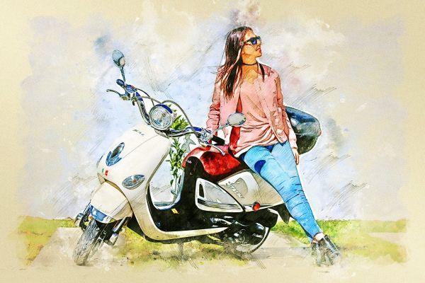 Леди на мотоцикле