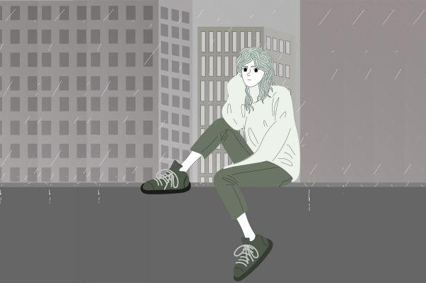 Грусть под дождём
